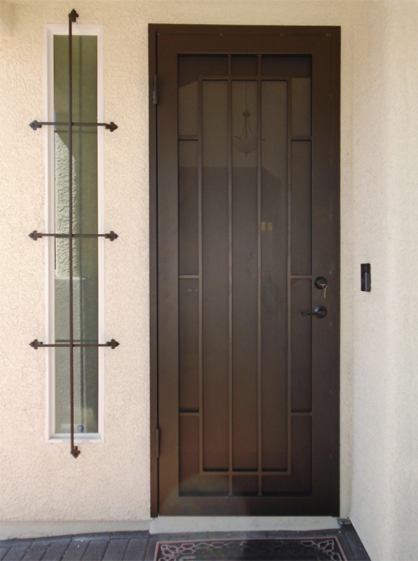 Modern Custom Archive Security Door - Item SD0271 Wrought Iron Design In Las Vegas