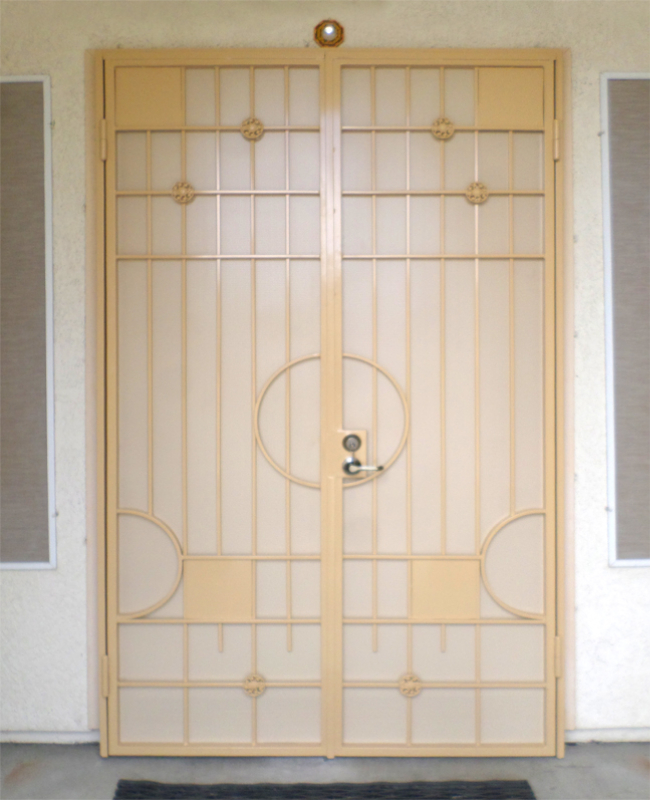 Modern Double Security Door - Item Avery FD0075A Wrought Iron Design In Las Vegas