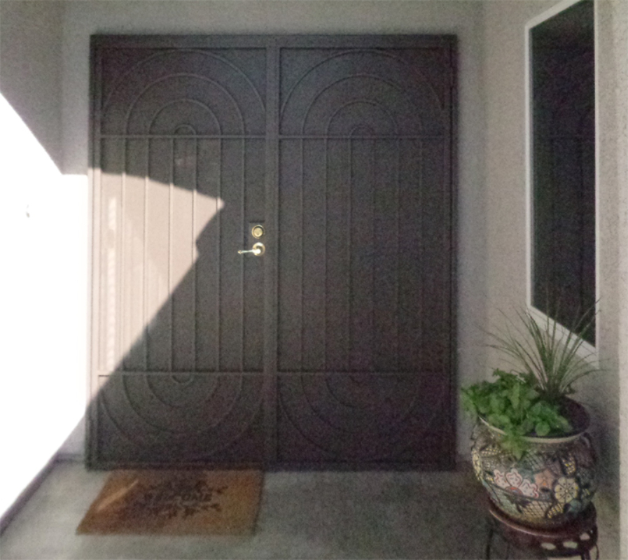 Modern Double Security Door - Item Daytona FD0157 Wrought Iron Design In Las Vegas