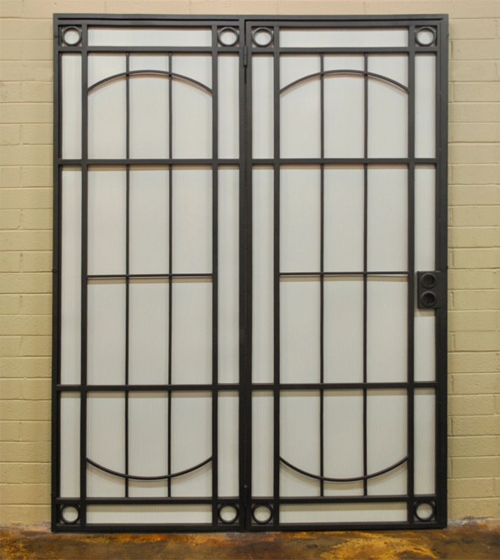 Modern Double Security Door - Item Newbury FD0110 Wrought Iron Design In Las Vegas