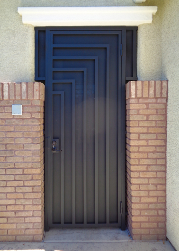 Modern Escher Entryway Door - Item EW0422A Wrought Iron Design In Las Vegas