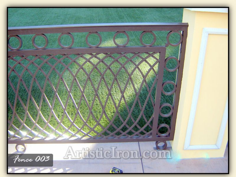 Modern Fencing F0003 Wrought Iron Design In Las Vegas
