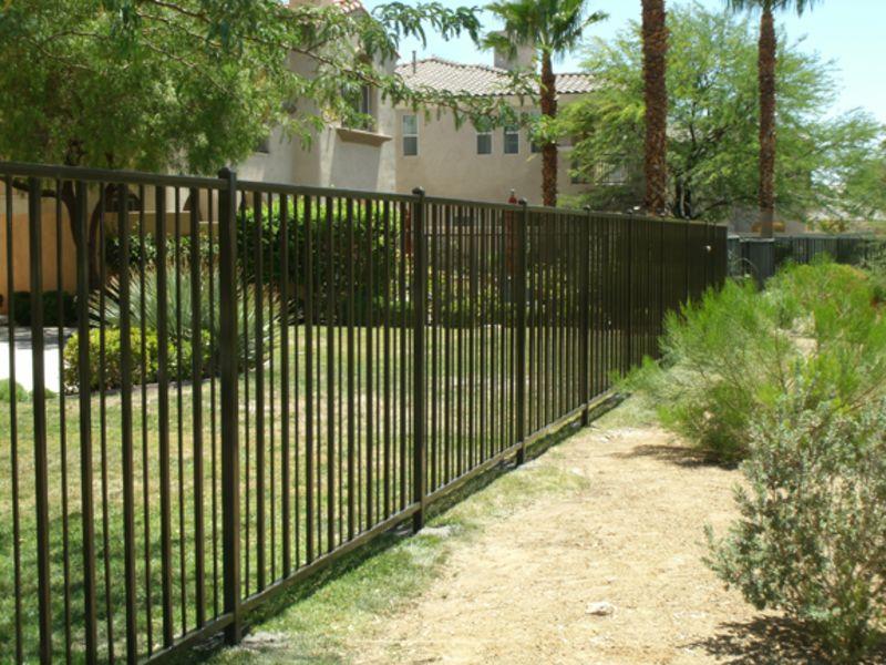 Modern Fencing F0028 Wrought Iron Design In Las Vegas