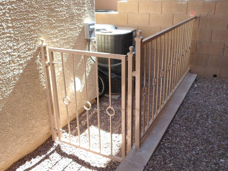 Modern Fencing F0119 Wrought Iron Design In Las Vegas