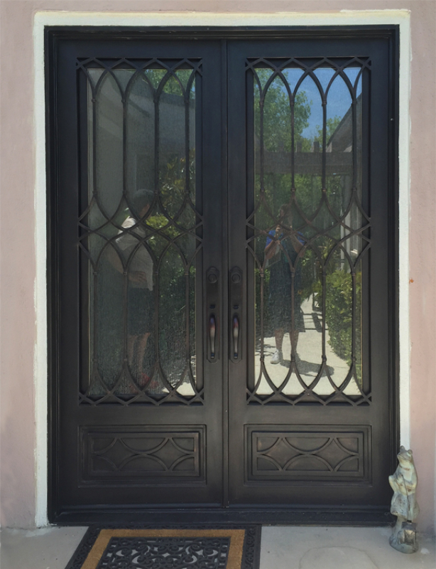 Modern Front Door - Item Bordeaux GE0204 Wrought Iron Design In Las Vegas