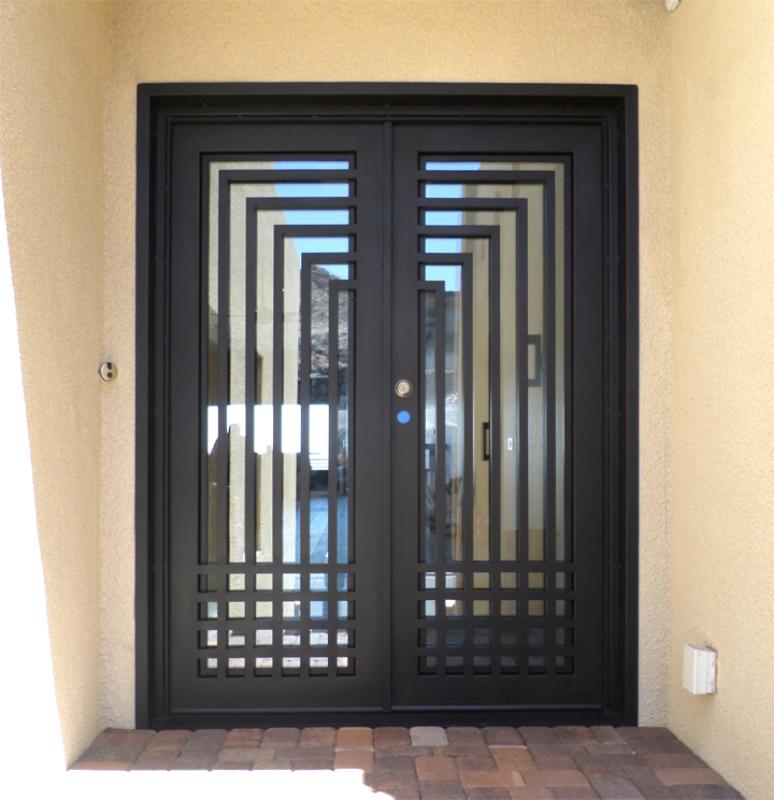 Modern Front Door - Item Escher GE0093A Wrought Iron Design In Las Vegas