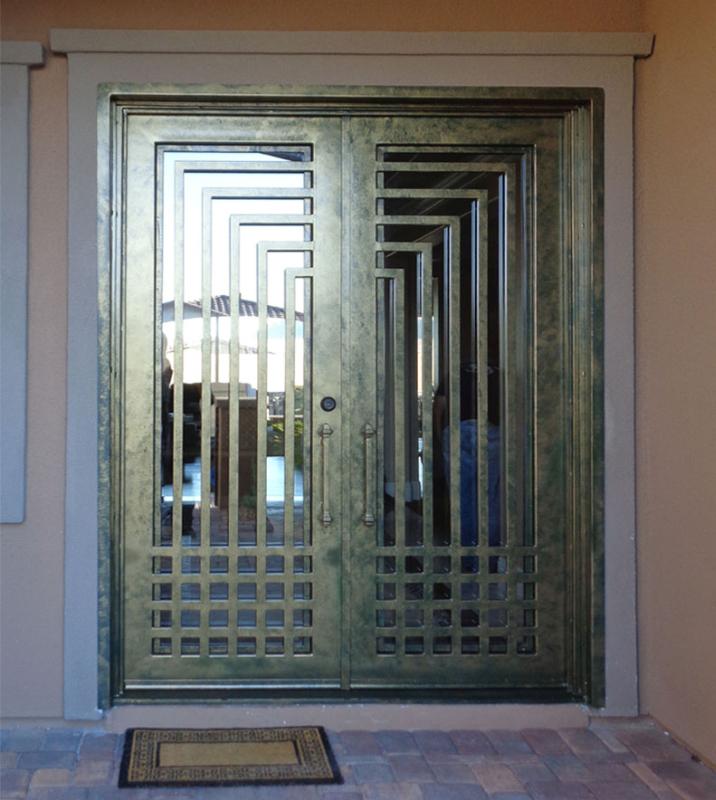 Modern Front Door - Item Escher GE0093B Wrought Iron Design In Las Vegas