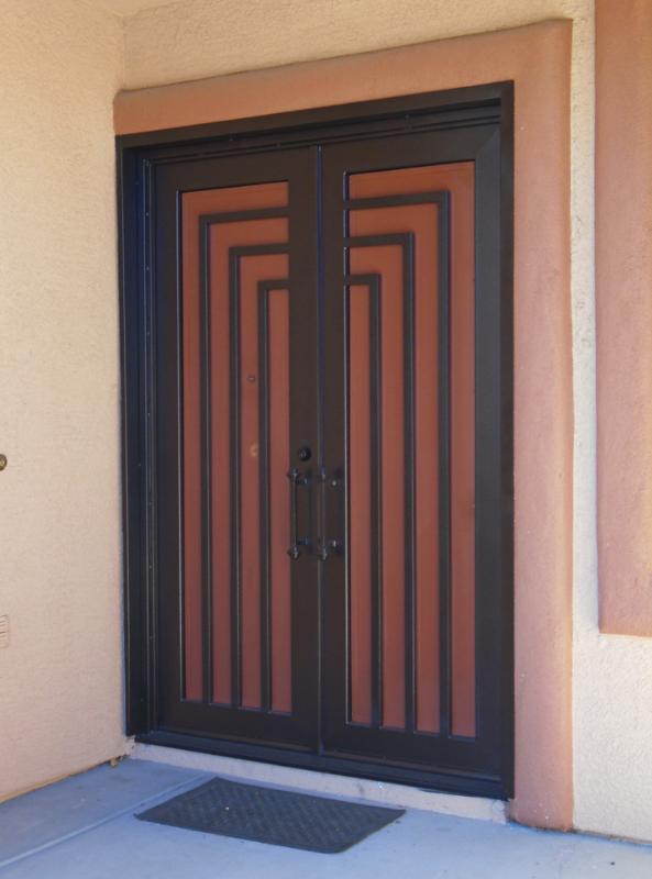 Modern Front Door - Item Escher GE0093C Wrought Iron Design In Las Vegas