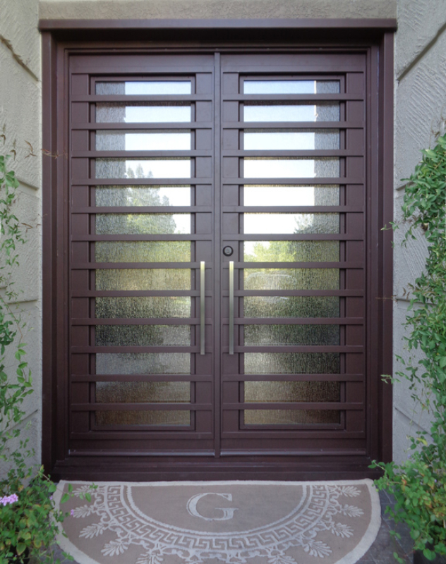 Modern Front Door - Item Fairfax GE0054 Wrought Iron Design In Las Vegas