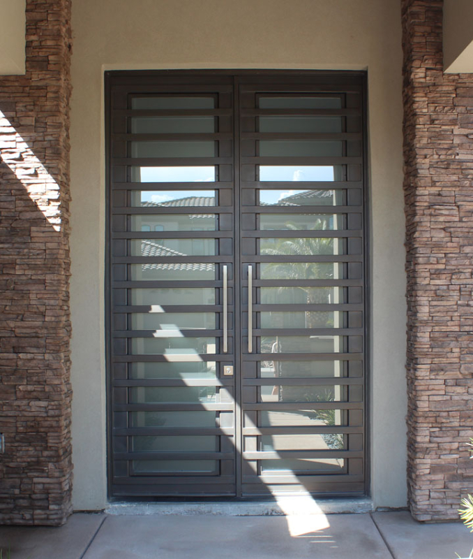 Modern Front Door - Item Fairfax GE0054A Wrought Iron Design In Las Vegas