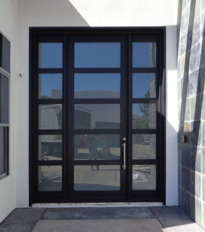 Modern Front Door - Item La Brea GE0172 Wrought Iron Design In Las Vegas