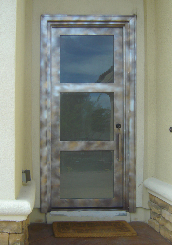 Modern Front Door - Item La Brea GE0183 Wrought Iron Design In Las Vegas