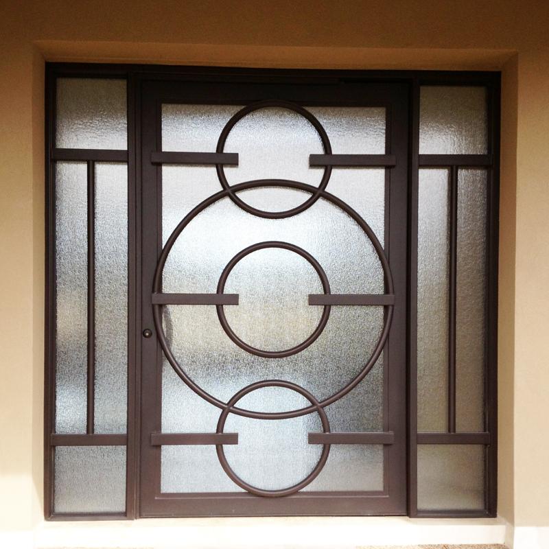 Modern Front Door - Item Olympia GE0097 Wrought Iron Design In Las Vegas