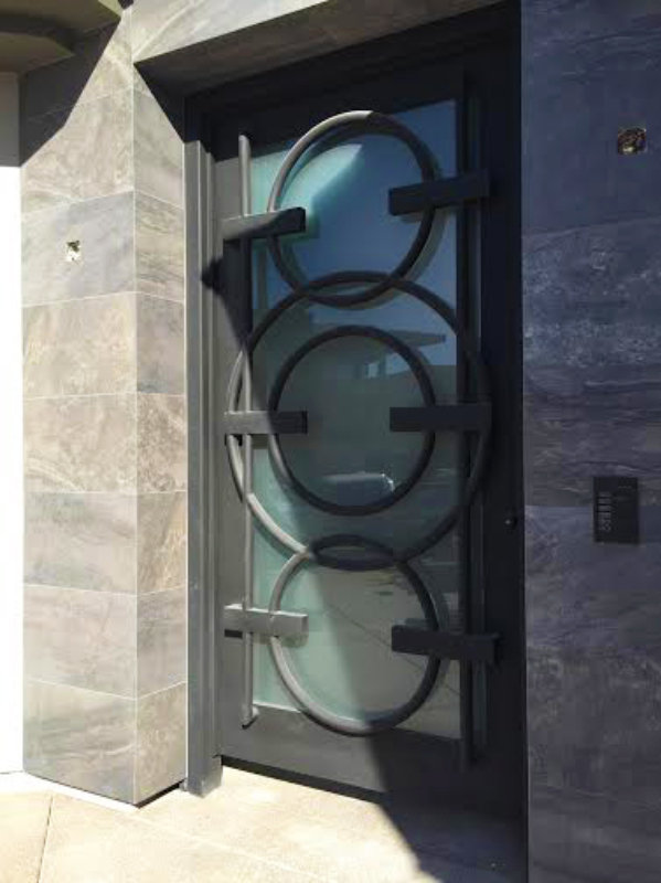 Modern Front Door - Item Olympia GE0196 Wrought Iron Design In Las Vegas