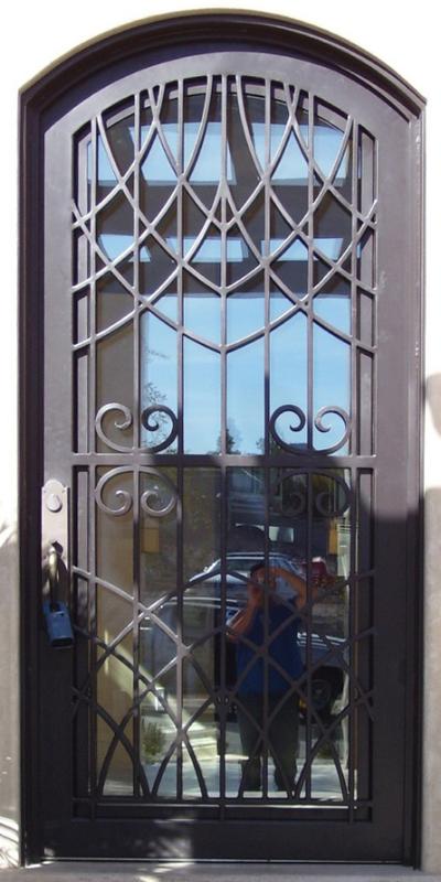 Modern Front Door - Item Tetra GE0022 Wrought Iron Design In Las Vegas