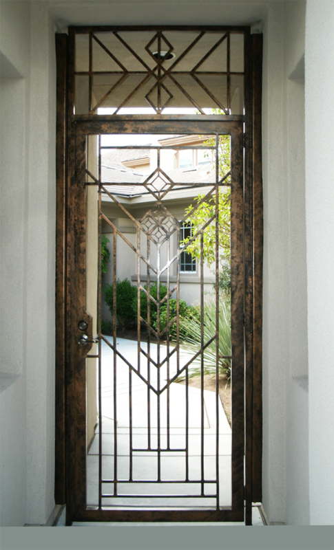 Modern Geneva Entryway Door - Item EW0083 Wrought Iron Design In Las Vegas