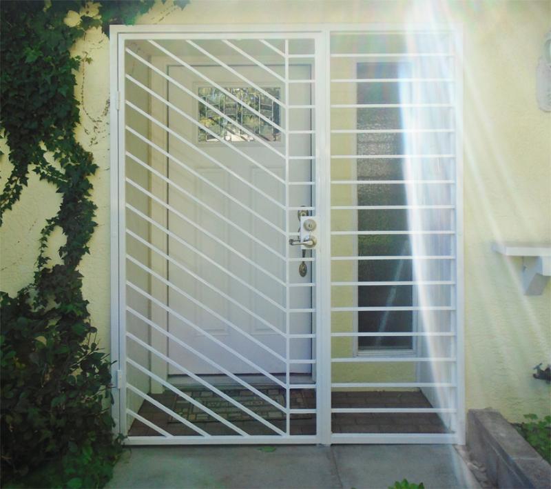 Modern Jenner Entryway Door - Item EW0496 Wrought Iron Design In Las Vegas