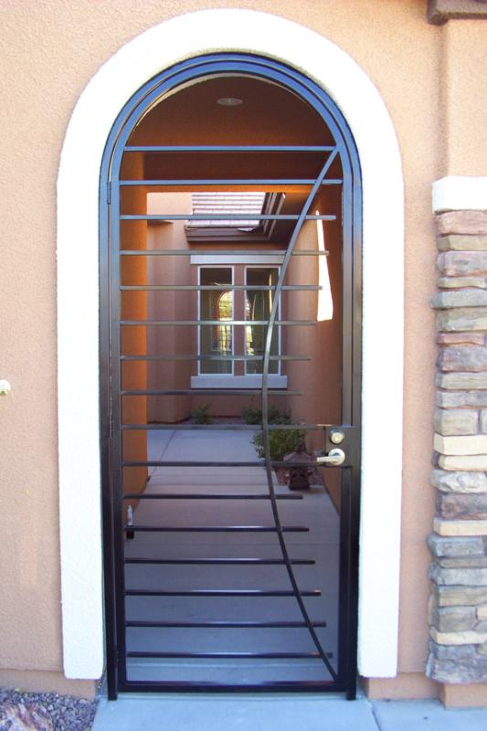 Modern Odyssey Entryway Door - Item EW0426 Wrought Iron Design In Las Vegas