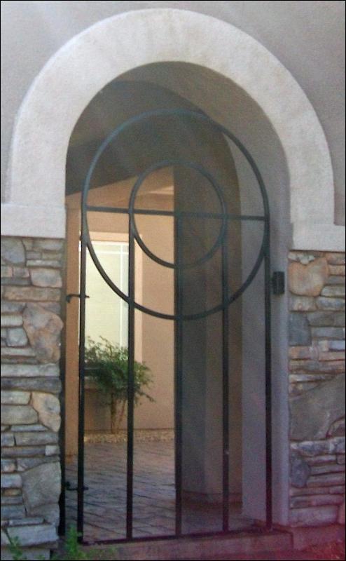 Modern Olympia Entryway Door - Item EW0502 Wrought Iron Design In Las Vegas