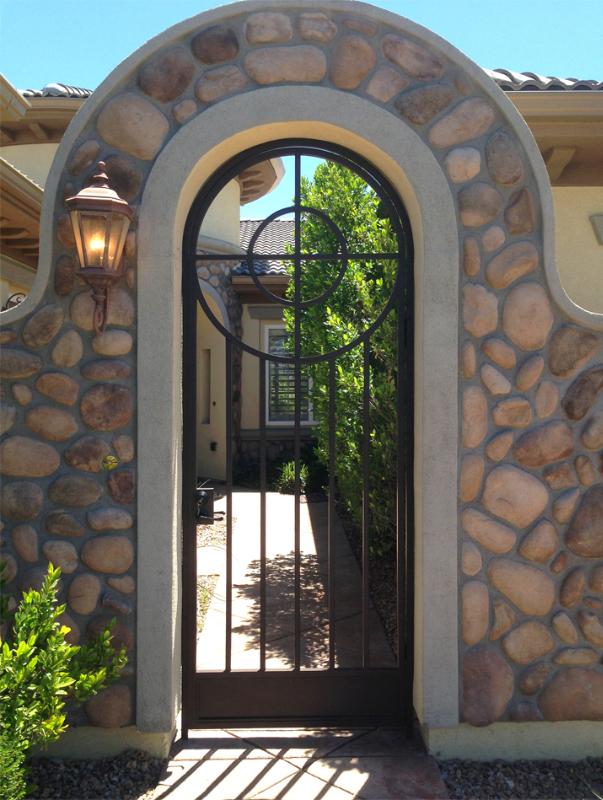 Modern Olympia Entryway Door - Item EW0502A Wrought Iron Design In Las Vegas