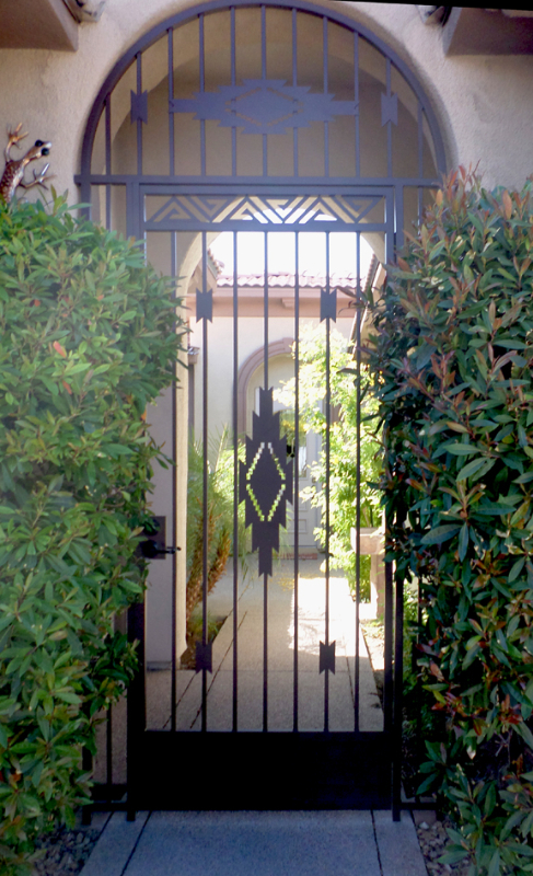 Modern Santa Fe Entryway Door - Item EW0474A Wrought Iron Design In Las Vegas