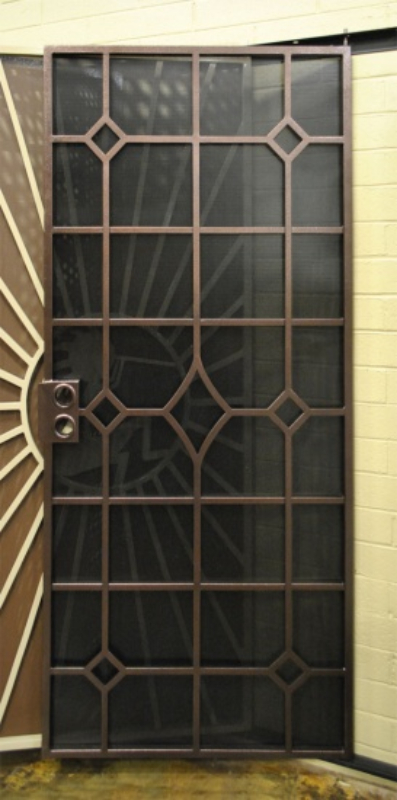 Modern Security Door - Item Fussen SD0263SR Wrought Iron Design In Las Vegas
