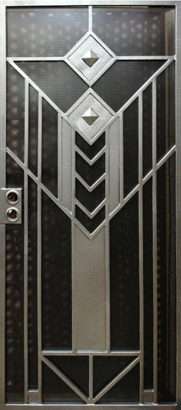 Modern Security Door - Item Geneva SD0224 Wrought Iron Design In Las Vegas