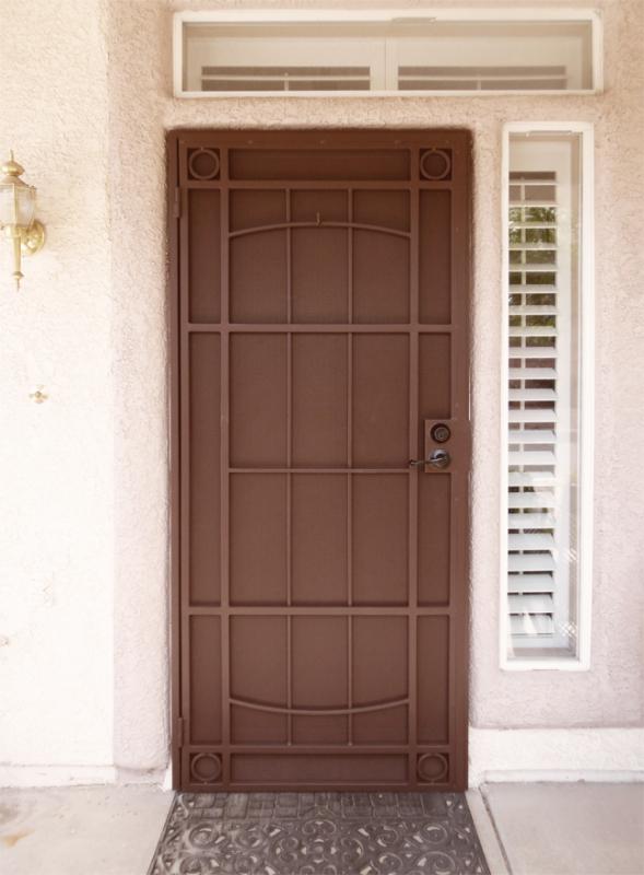 Modern Security Door - Item Newbury SD0287 Wrought Iron Design In Las Vegas