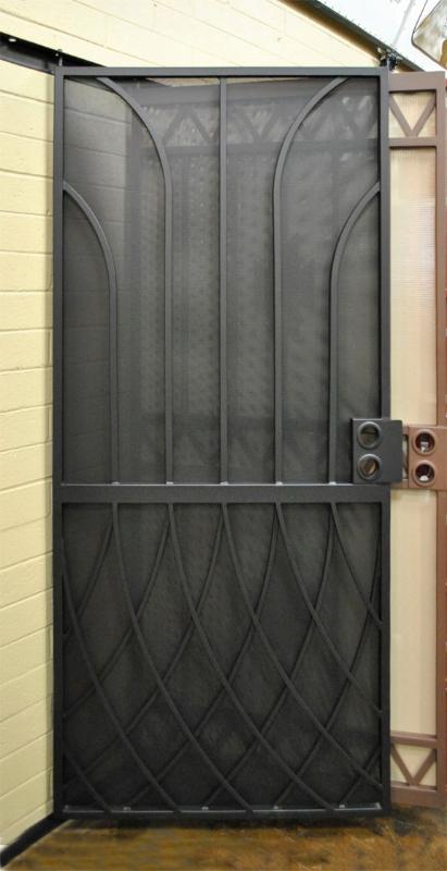 Modern Security Door - Item Tetra SD0040 Wrought Iron Design In Las Vegas