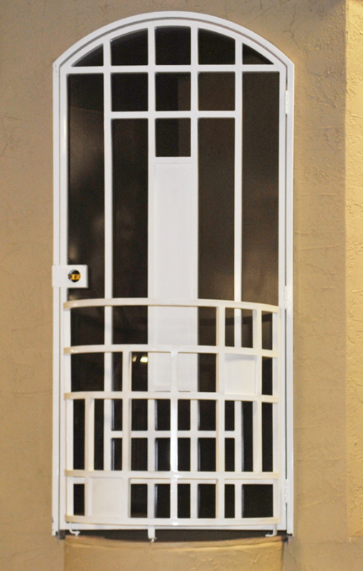 Modern Security Door - Item Viva SD0242 Wrought Iron Design In Las Vegas