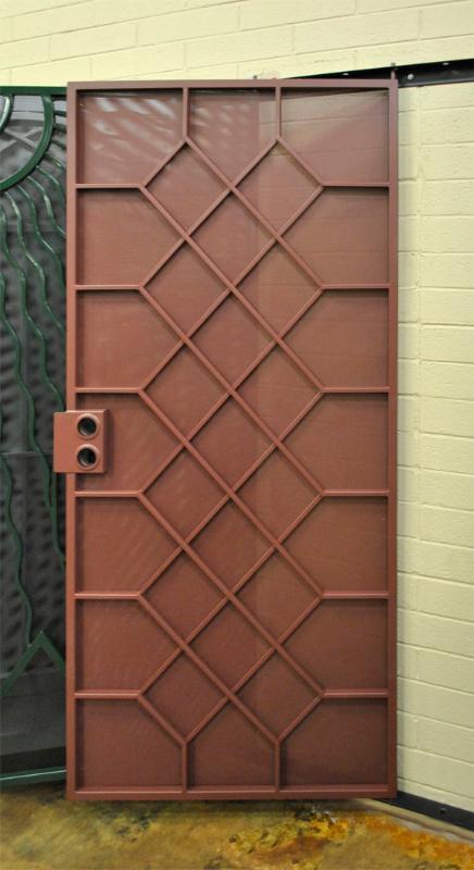 Modern Security Door - Item Wilshire SD0220 Wrought Iron Design In Las Vegas