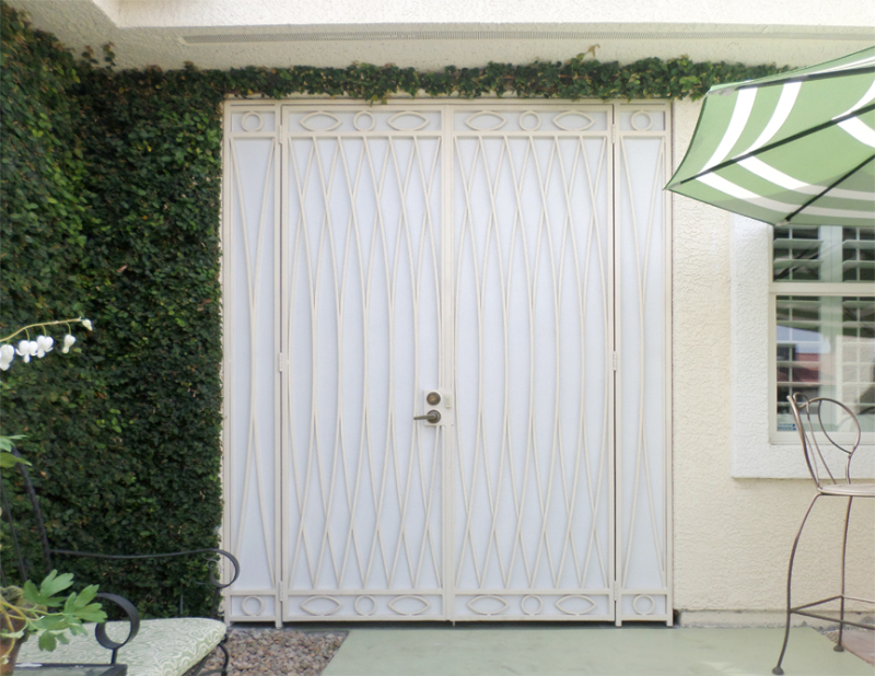 Modern Tetra Entryway Door - Item EW0493 Wrought Iron Design In Las Vegas