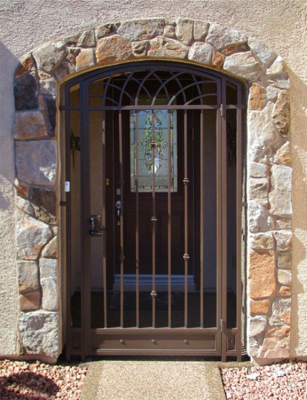 Modern Tetra Entryway Door - Item EW0515 Wrought Iron Design In Las Vegas