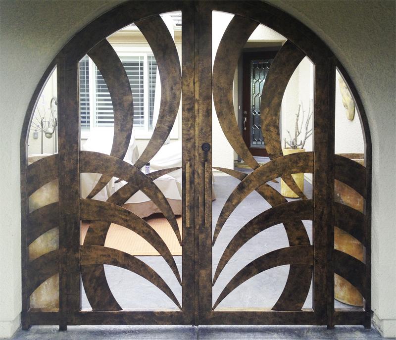 Modern Tunisa Entryway Door - Item EW0241 Wrought Iron Design In Las Vegas