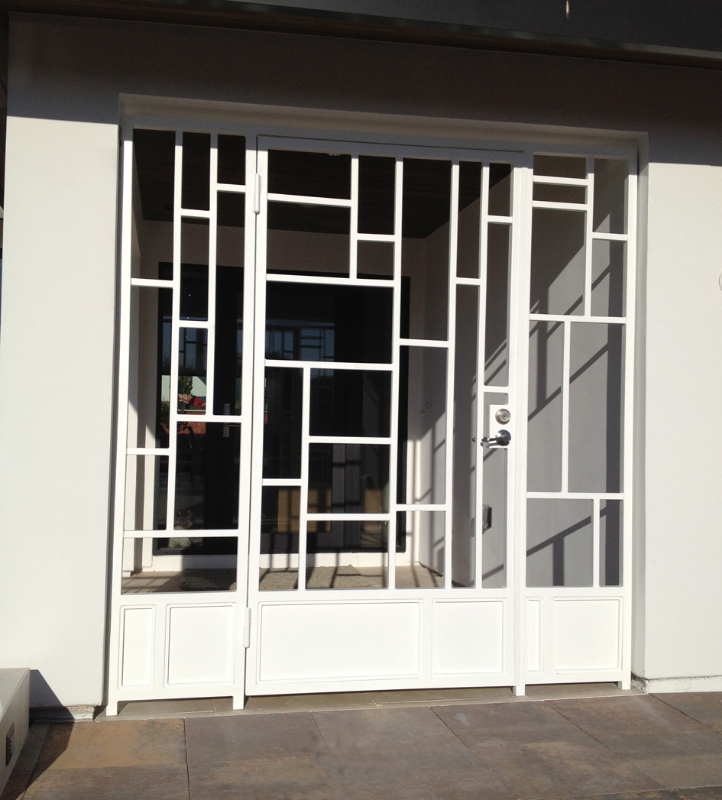 Modern Viva Entryway Door - Item EW0317 Wrought Iron Design In Las Vegas