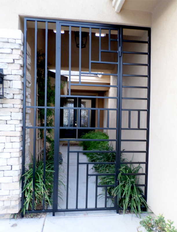 Modern Viva Entryway Door - Item EW0370 Wrought Iron Design In Las Vegas