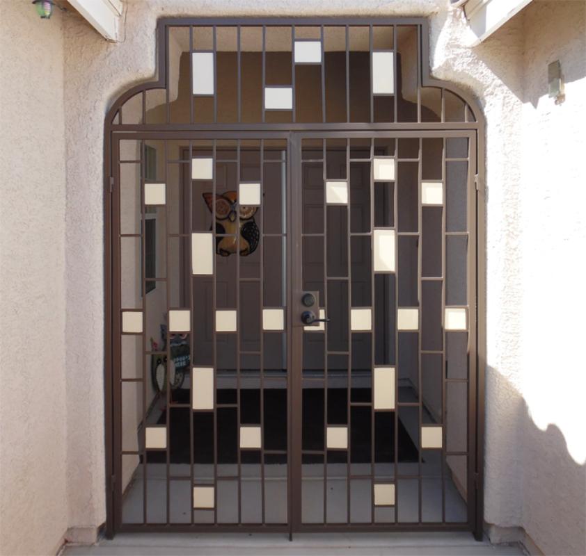 Modern Viva Entryway Door - Item EW0424 Wrought Iron Design In Las Vegas