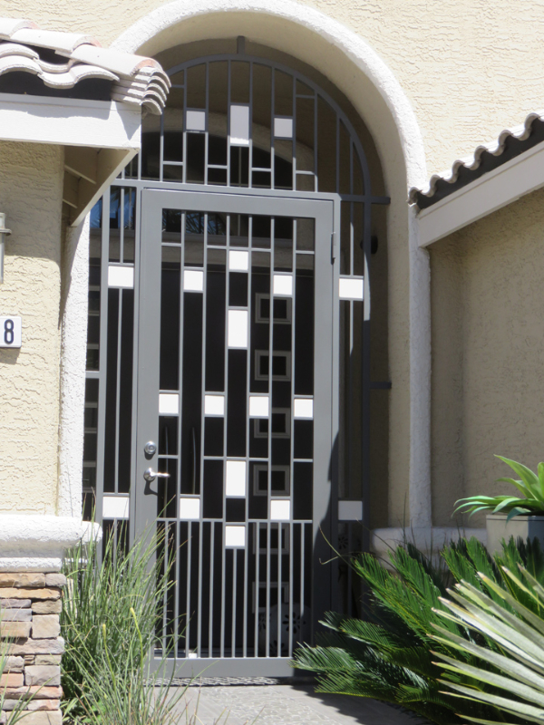 Modern Viva Entryway Door - Item EW0424A Wrought Iron Design In Las Vegas