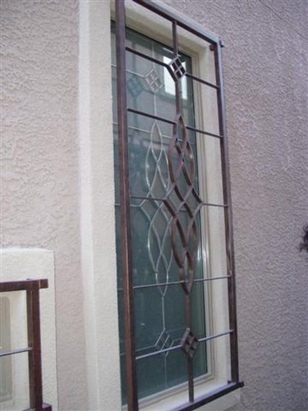 Modern Window Guard WG0009 Wrought Iron Design In Las Vegas
