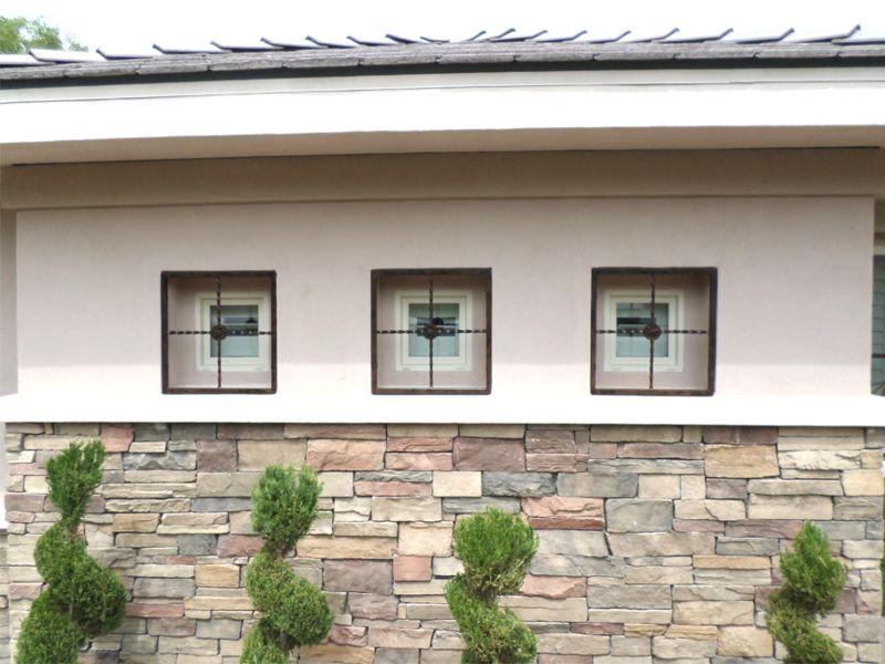 Modern Window Guard WG0103 Wrought Iron Design In Las Vegas