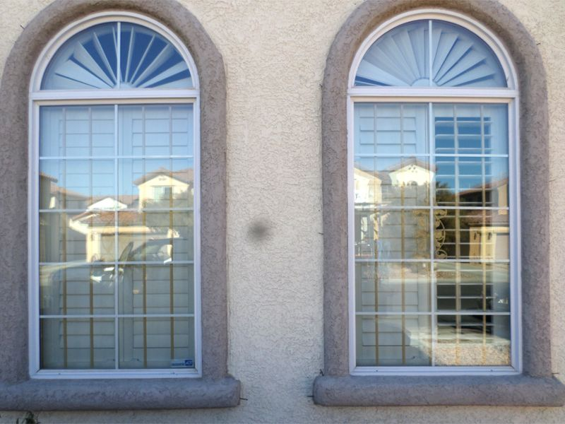 Econoline Window Guard - WG0107 Wrought Iron Design In Las Vegas