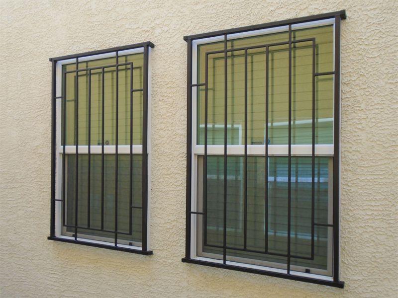Modern Window Guard WG0143 Wrought Iron Design In Las Vegas