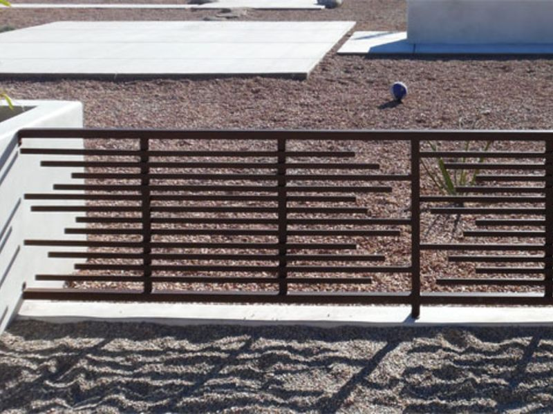 Modern Fencing F0138A Wrought Iron Design In Las Vegas