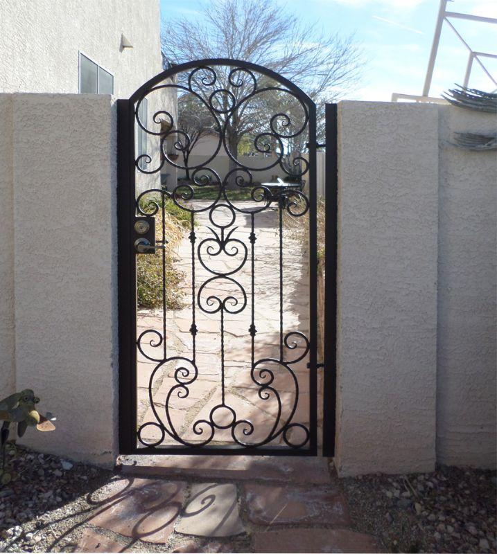 Traditional Single Gate - Item MonacoSG0404 Wrought Iron Design In Las Vegas