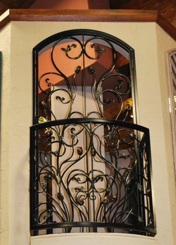 Nature Inspired Balcony Railing - Item BR0123 Wrought Iron Design In Las Vegas
