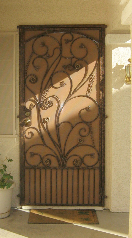 Nature Custom Archive Security Door - Item SD0006 Wrought Iron Design In Las Vegas
