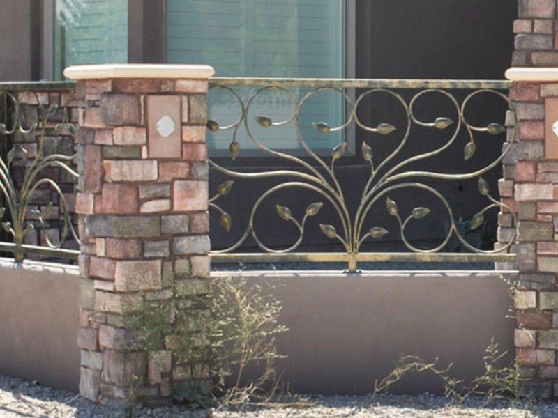 Nature Inspired Block and Iron BI0085 Wrought Iron Design In Las Vegas