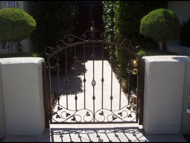 Nature Inspired Courtyard & Entryway Gates CE0040 Wrought Iron Design In Las Vegas