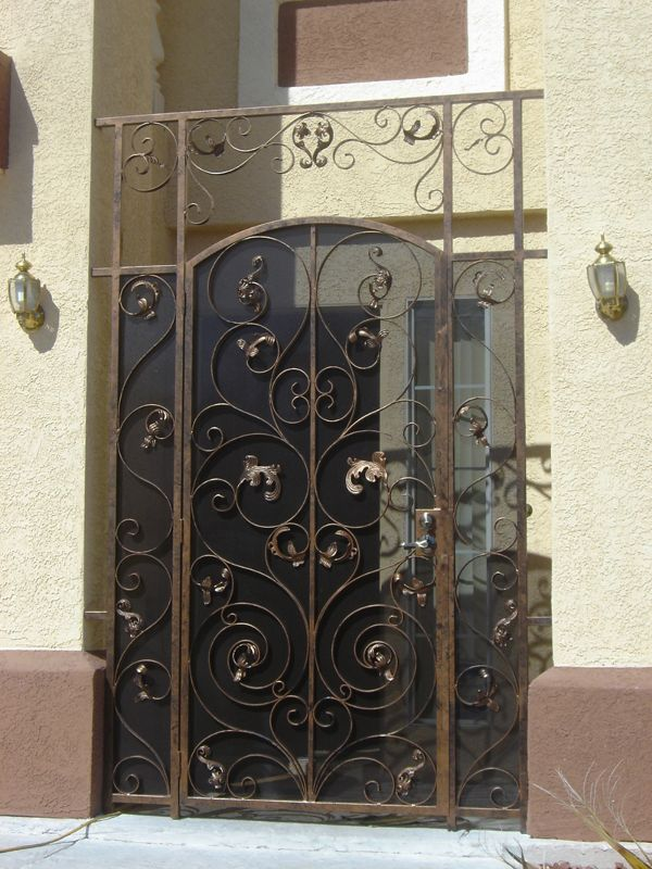 Nature Inspired Courtyard & Entryway Gates CE0115 Wrought Iron Design In Las Vegas