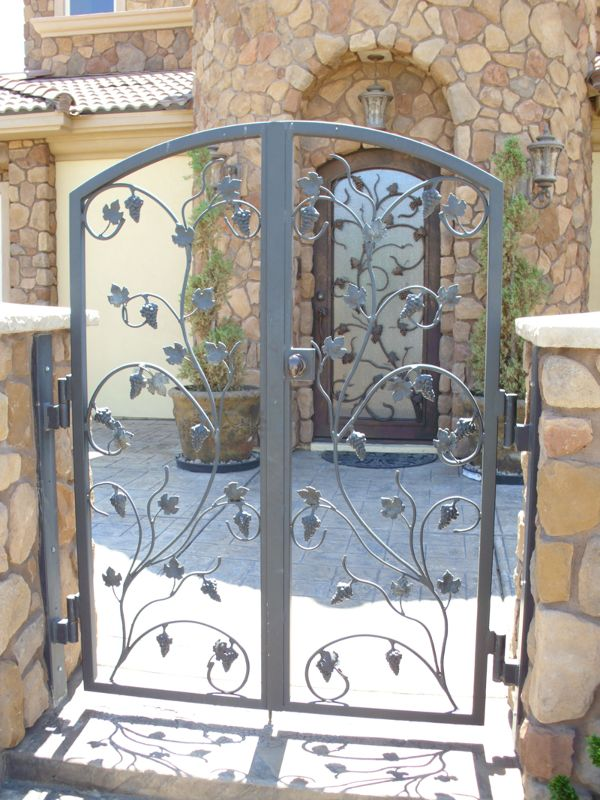 Nature Inspired Courtyard & Entryway Gates CE0191 Wrought Iron Design In Las Vegas